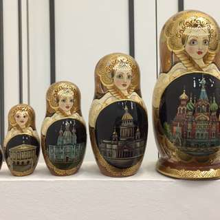 Authorial Russian Nesting Doll  (5 dolls set)