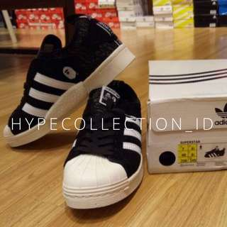 Adidas Superstar X Neighborhood X Boost X Bape Black BNIB