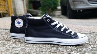 Converse ori new ct mid street natural black murah