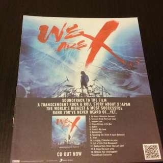 X Japan 香港雜誌 廣告1張 包平郵 匯豐, 中銀入數