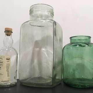 早期氣泡玻璃瓶 古著 古董