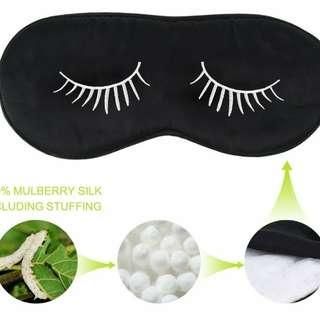 Sleeping Mask Silk Eyelash Design Black
