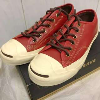 100%new Jack Purcell leather ox EUR 38.5 converse 全新連盒紅色皮革波鞋