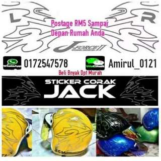 Sticker Corak Shoei Jack