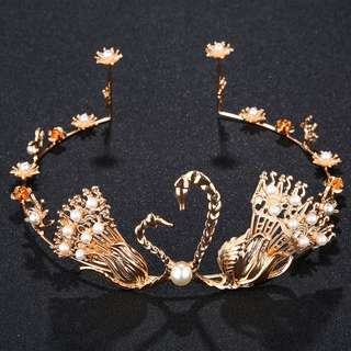 Brand new hair accessories for wedding and party Swan Tiara