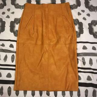 Sheike leather looking skirt