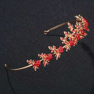 Brand new hair accessories for wedding and party red Tiara