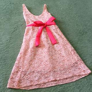 Lace Pink Dress for baby girl