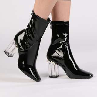 Perspex boot heels