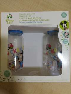 Disney Baby Mickey 2 pieces 8oz Bottles (loose pack) in gift box RM20 2 bottles