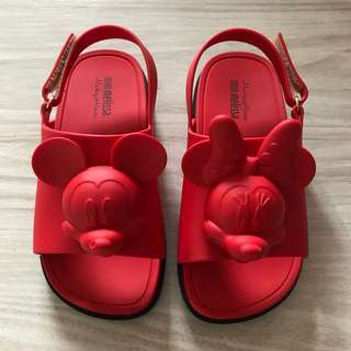 Mini Melissa sandals size us10