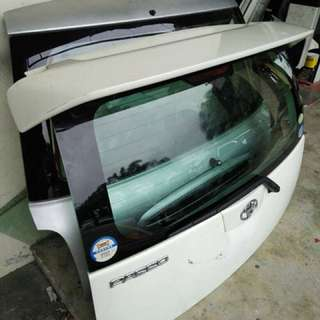 Japan Passo Tailgate With asv @ trd Spoiler For myvi