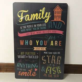 Big Motivational wooden display board