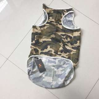 Breathable Mesh Camouflage Design Dog Apparel Clothes