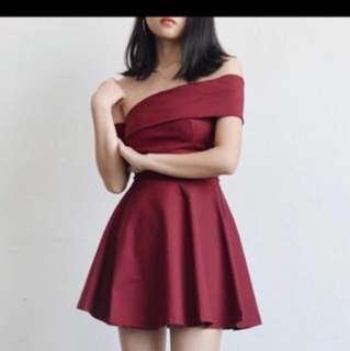 Kiera Romper Dress (Maroon) - Best Buy!