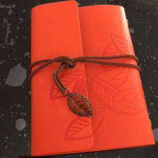 Leaf notebook / travellers diary / vintage diary