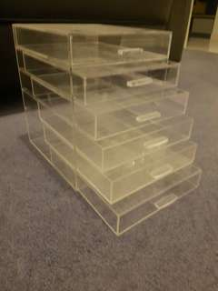 Acrylic make up drawers
