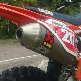 Akrapovic KTM Limited Factory Edition Titanium Slip On Exhaust Muffler End Can SXF EXCF XCF FMF AKRA