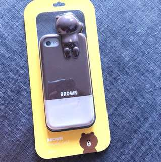 Line Brown Iph7 Case