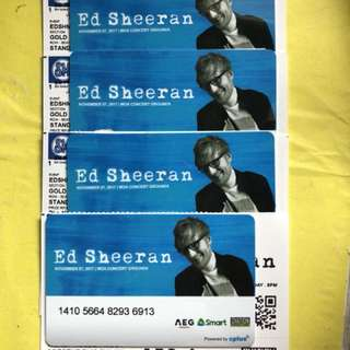 Ed Sheeran tickets GOLD (4 tickets)