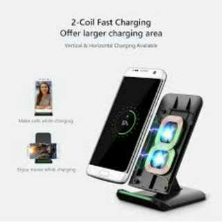 Fast Wireless Charger, Wirelss Charging Stand for Samsung Galaxy S8/S8 plus/Note 5/Galaxy S6 Edge Plus/S7/S7 Edge
