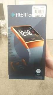 New in box Fitbit Ionic blue/grey/orange
