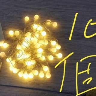 LED 暖白色燈飾入電芯5米50燈   $10 (1件); $90 (全要 - 共10件)