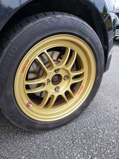 Enkei RPF01 original 15x7 gold rims (2 piece only)
