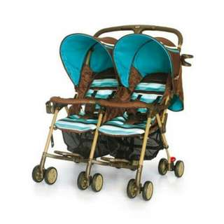 My Dear twin seated baby stroller