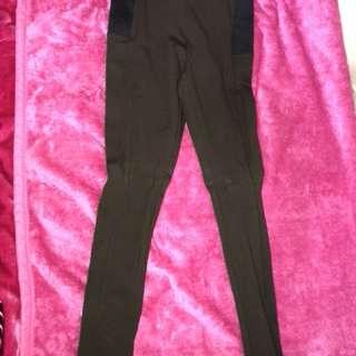 GLASSONS ponte pants in khaki