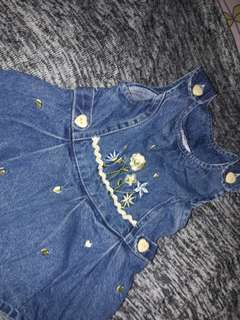 Baby jeans dress