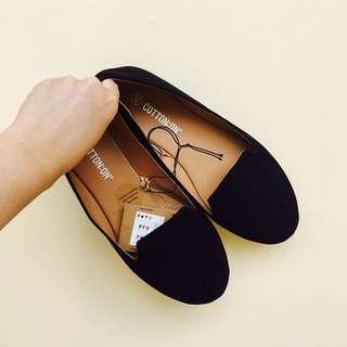 Cotton on flatshoes black