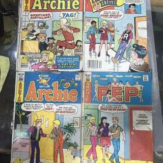 Vintage Archie Comics x 4