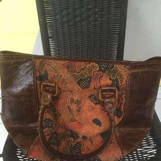 Tas Batik Ziba kulit asli