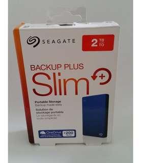 Seagate 2TB slim portable hard drive hard disk HDD