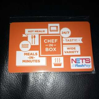 Limited Edition Brand New Chef In Box EZ link & Nets flash Pay Card