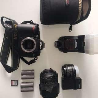 Nikon D90 X SB900 + 2 lens + extras