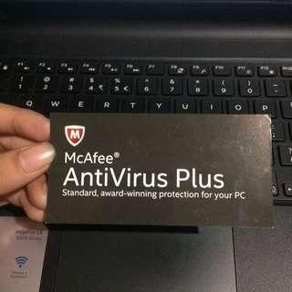 McAfee Anti Virus Plus 1 Year Subscription Code