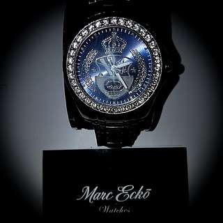Marc Ecko Swarovski 施華洛世奇水晶 stainless steel watch