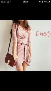 Dusty pink off shoulder