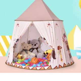 CH 1019-B Indoor / Outdoor Brown Castle Tent