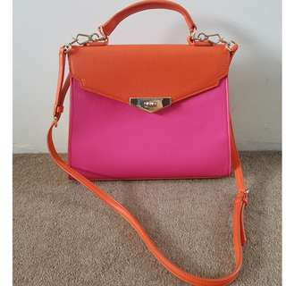 Charles and Keith colour block satchel