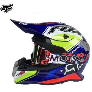 ★READY STOCK★FREE GOGGLES ★ FOX FULL FACE MOTORCYCLE HELMET ★NEW BLUE ARRIVALS★ MOTOCROSS ★ e-SCOOTER ★ e-bike ★ ★ FOX FULL FACE HELMET with FREE goggles★ Suitable for e scooter ★ A
