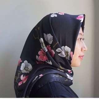 Sakura Black Scarf