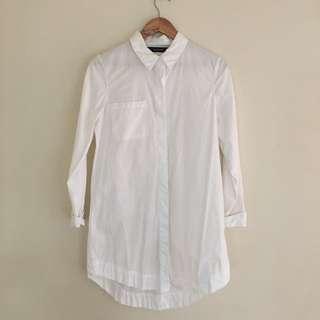 Glassons white shirt dress