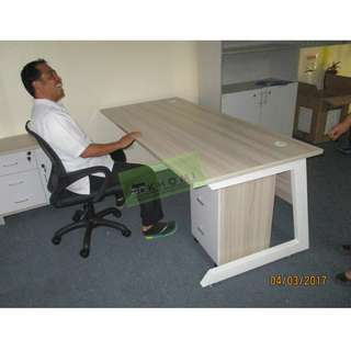 KHOMI--EXECUTIVE TABLES WITH SIDE CABINET