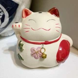 【免運】日本帶回 招財貓 陶燒