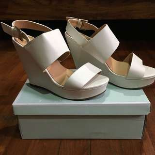 PRIMARK Wedges Platform Shoe White