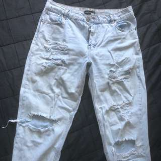 Glassons mom ripped jeans sz12