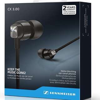 Sennheiser CX 3.00 Authentic Export Set (Black, Red Available)